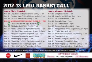 Pizza Box Topper (Back) - LMU Basketball Tickets