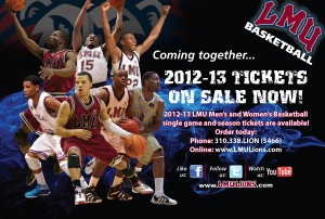 Pizza Box Topper (Front) - LMU Basketball Tickets