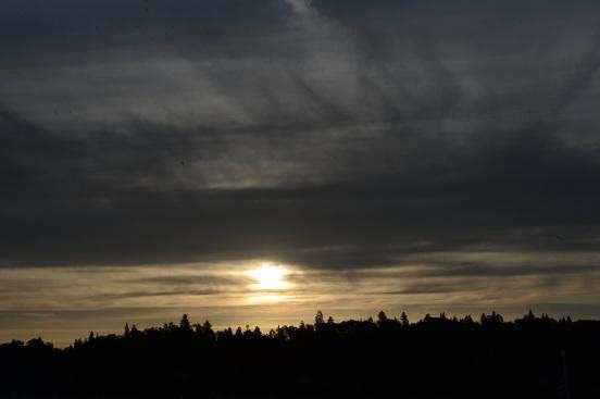 Sun over Lake Arrowhead
