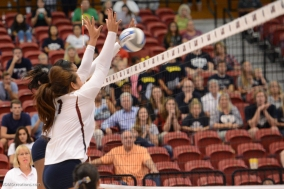 LMU vs. BYU in West Coast Conference Action at Gersten Pavilion. LMU 3, BYU 2 - first win over Cougars.