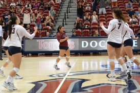 Team. LMU vs. BYU in West Coast Conference Action at Gersten Pavilion. LMU 3, BYU 2 - first win over Cougars.