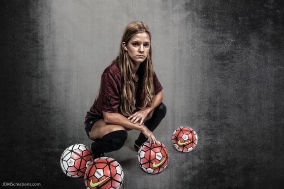 Jill Farley #LIONSTRONG Photo Shoot Portrait 2016-17 LMU Women's Soccer