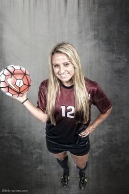 Nikki Martino #LIONSTRONG Photo Shoot Portrait 2016-17 LMU Women's Soccer