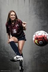 Katherine Henshall #LIONSTRONG Photo Shoot Portrait 2016-17 LMU Women's Soccer