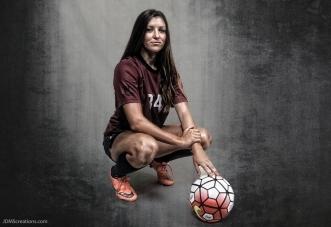 Sarah Sanger #LIONSTRONG Photo Shoot Portrait 2016-17 LMU Women's Soccer