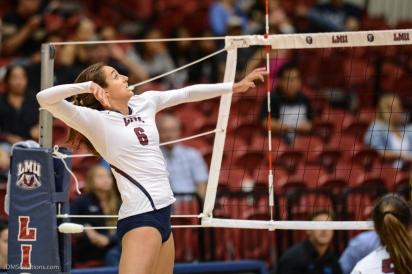 Sarah Sponcil LMU volleyball vs. UCLA AUg. 27, 2016