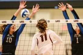 Sara Kovac LMU volleyball vs. UCLA AUg. 27, 2016