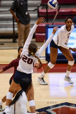 Jessie Prichard LMU volleyball vs. UCLA AUg. 27, 2016