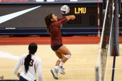 Kristen Castellanos LMU volleyball vs. UCLA AUg. 27, 2016