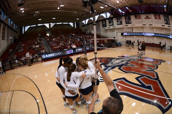 Team LMU volleyball vs. UCLA AUg. 27, 2016