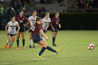 LMU women's soccer vs. Nebraska-Omaha Maddie Medved Game Winning Penalty Kick