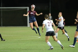 Emma Tyrnauer Header LMU women's soccer vs. Nebraska-Omaha Sept. 24, 2016