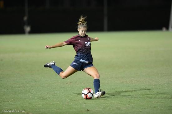 Gabbie Sanfilippo LMU women's soccer vs. Nebraska-Omaha Sept. 24, 2016