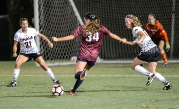 Sarah Sanger LMU women's soccer vs. Nebraska-Omaha Sept. 24, 2016
