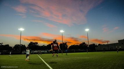 Sarah Sanger on Sullivan Field Sunset prior to start of LMU women's soccer vs. Nebraska-Omaha Sept. 24, 2016