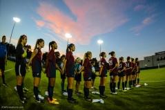 Team National Anthem LMU women's soccer vs. Nebraska-Omaha Sept. 24, 2016