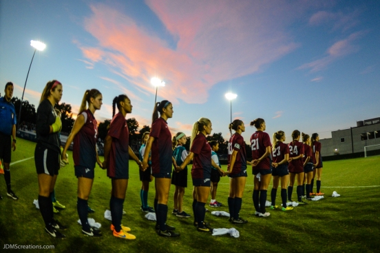 Team National Anthem LMU women's soccer vs. Nebraska-Omaha Sept. 24, 2016