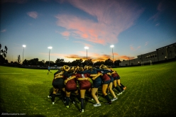 Team Huddle Pregame LMU women's soccer vs. Nebraska-Omaha Sept. 24, 2016