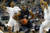 Kelvin Amayo LMU men's basketball at Nevada in Reno, Nev. on Nov. 14, 2016