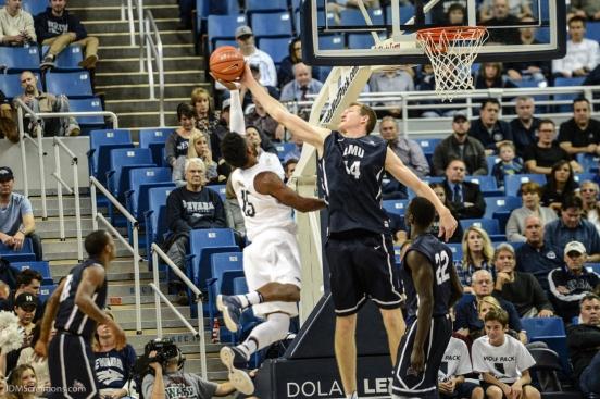 Mattias Markusson LMU men's basketball at Nevada in Reno, Nev. on Nov. 14, 2016