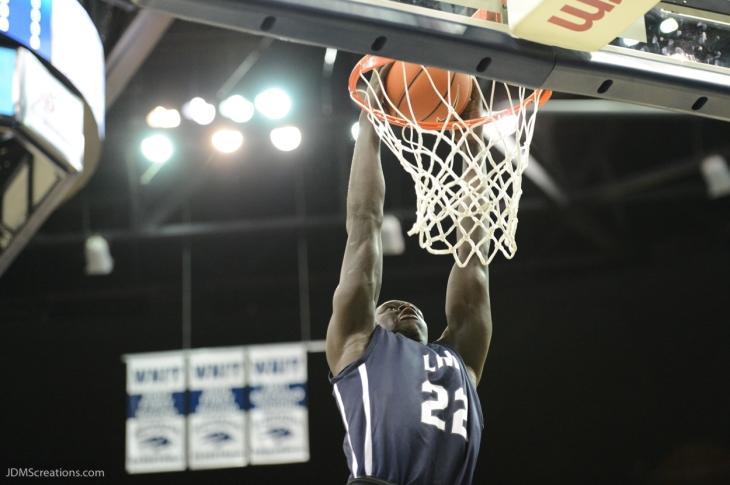 Buay Tuach LMU men's basketball at Nevada in Reno, Nev. on Nov. 14, 2016