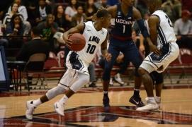 Brandon Brown LMU men's basketball vs. UCONN on Nov. 17, 2016