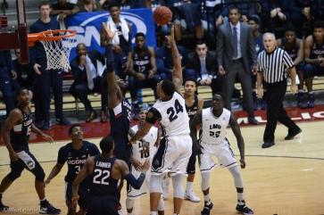 Shamar Johnson LMU men's basketball vs. UCONN on Nov. 17, 2016