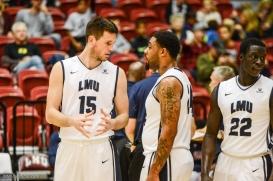 Stefan Jovanovic Shamar Johnson LMU men's basketball vs. Southern Utah Dec. 8, 2016