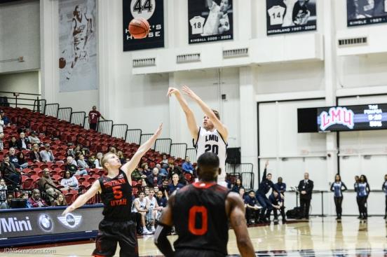 Erik Johansson LMU men's basketball vs. Southern Utah Dec. 8, 2016