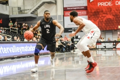 Kelvin Amayo LMU men's basketball at CSUN at Matadome Dec. 10, 2016 in Northridge, CA