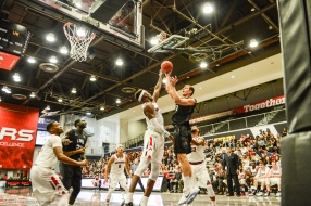 Petr Herman LMU men's basketball at CSUN at Matadome Dec. 10, 2016 in Northridge, CA