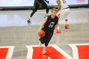 Erik Johansson LMU men's basketball at CSUN at Matadome Dec. 10, 2016 in Northridge, CA