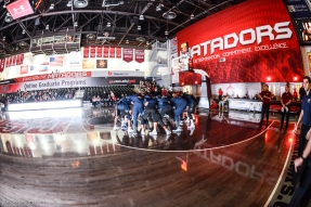 Team pregame LMU men's basketball at CSUN at Matadome Dec. 10, 2016 in Northridge, CA