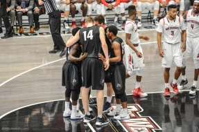 Team LMU men's basketball at CSUN at Matadome Dec. 10, 2016 in Northridge, CA