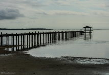 A personal pier on Saint Andrews Bay in Panama City, Florida