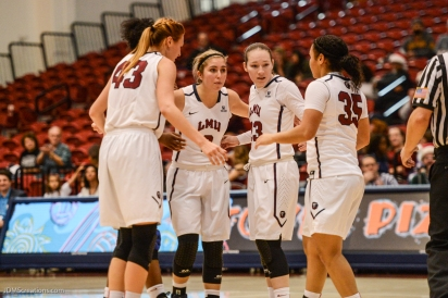 Team LMU women's basketball vs. UC Riverside Dec. 17, 2016
