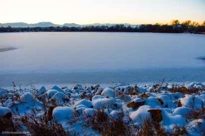 The winter shores of Waneka Lake in Lafayette Colorado Dec. 18, 2016
