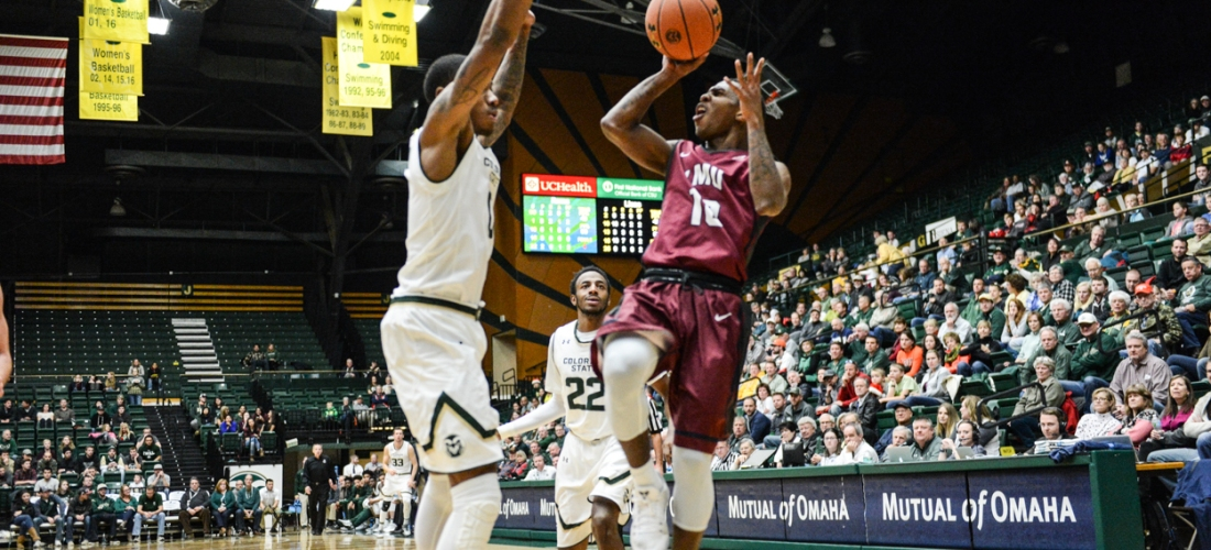 Brandon Brown LMU men's basketball at Colorado State Dec. 19, 2016 Moby Arena