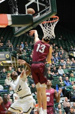 Trevor Manuel Block LMU men's basketball at Colorado State Dec. 19, 2016 Moby Arena