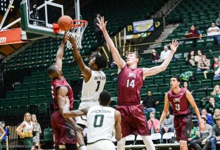 Mattias Markiusson Kelvin Amayo LMU men's basketball at Colorado State Dec. 19, 2016 Moby Arena