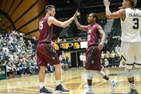 Brandon Brown Stefan Jovanovic LMU men's basketball at Colorado State Dec. 19, 2016 Moby Arena