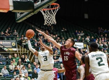 Stefan Jovanovic LMU men's basketball at Colorado State Dec. 19, 2016 Moby Arena