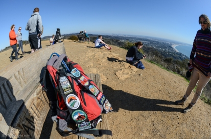The collect patches of long-time hiker Osha, who is on a mission to do a SoCal hike each weekend of 2017 (52 challenge). Christmas Day hike on East Topanga Fire Road to Parker Mesa Overlook Santa Monica Mountains.