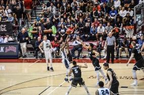 Brandon Brown fans crowd LMU men's basketball vs. No. 1 Gonzaga Feb. 9, 2017