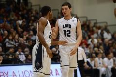 Jeffery McClendon Steven Haney LMU men's basketball vs. No. 1 Gonzaga Feb. 9, 2017