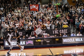 Cage Crowd Gersten Pavilion LMU men's basketball vs. No. 1 Gonzaga Feb. 9, 2017