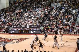 Crowd Fans Gersten Pavilion LMU men's basketball vs. No. 1 Gonzaga Feb. 9, 2017