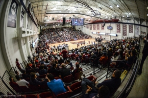 Crowd Gersten Pavilion LMU men's basketball vs. No. 1 Gonzaga Feb. 9, 2017