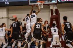 Team Defense Jeffery McClendon Shamar Johnson LMU men's basketball vs. No. 1 Gonzaga Feb. 9, 2017