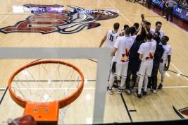 Team Huddle LMU men's basketball vs. No. 1 Gonzaga Feb. 9, 2017